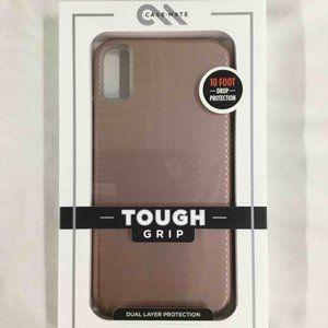 iPhone Xs Max Case Mate Phone Case- rose gold-